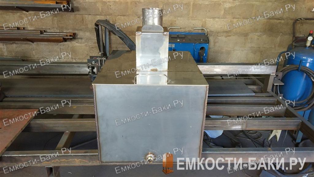Бак из нержавейки для бани на 127 литров на трубе, (62-52-25)-2