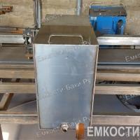 Бак из нержавейки для бани на 90 литров (60-50-30)-2