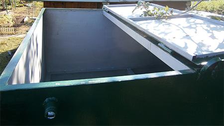 емкость для воды для дачи с крышкой